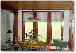 Dining Room Bay Window Treatments Curtains For Windows In Best Concept