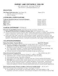 New Graduate Nurse Resume Sample Grad Samples Nursing Objective Examples