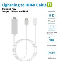 8 Pin HDMI Cable For Apple Iphone 6 5s 5 7 6s Plus Fo iPad For