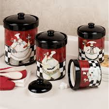 Sensational Chef Decor For Kitchen Image Ideas Canister Sets Bistros And Canisters Fat Statues