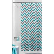 Navy Blue Chevron Curtains Walmart by Mainstays Alpha Chevron Peva Shower From Walmart