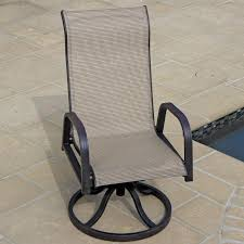 Stackable Outdoor Sling Chairs by Madison Bay Sling Patio Swivel Rocker Dining Chair By Lakeview