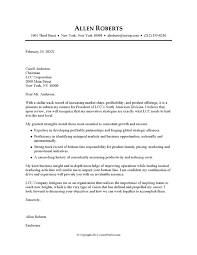 Ceo Sample Cover Letter For Job Resume Examples Of Letters