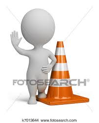 Drawing 3d small people traffic cone Fotosearch Search Clip Art Illustrations
