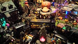 Lemax Halloween Village Displays by Brian U0027s 2013 Dept 56 Halloween Display Youtube