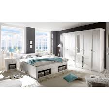 home affaire schlafzimmer set california set 4 tlg groß bett 180 cm 2 nachttische 5 trg kleiderschrank