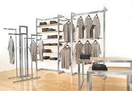Clothes Racks D Modern Clothing Displays Double Shelf Rack Pipe Amazoncom Curio Cabinet Display