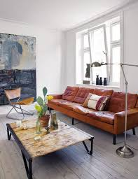 cognac leather vintage sofa my style pinboard pinterest