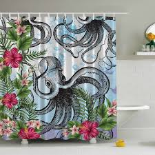 Ambesonne Octopus in Tropical Underwater Print Shower Curtain