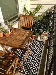 Succulents Tropical Plants Small Balcony Decor Ideas Lanterns String Lights Al