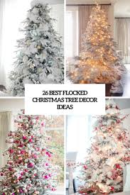 Popular Christmas Tree Species by 26 Best Flocked Christmas Tree Décor Ideas Digsdigs