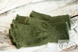 wool fingerless gloves native survival