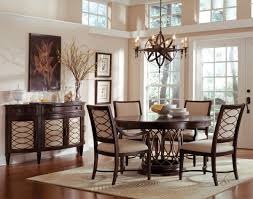Accessories Orb Chandelier With Round Dining Table And Wood