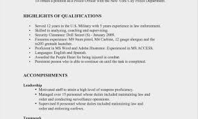 New Police Officer Resume Examples