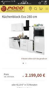 küchenblock mit e geräte 2 80 m alles orginal verpackt