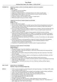 Download Manufacturing Design Engineer Resume Sample As Image File