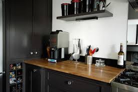 cuisine grise plan de travail bois photo le guide de la cuisine traditionnel