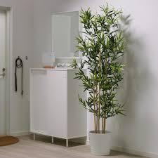 fejka topfpflanze künstlich drinnen draußen bambus 23 cm