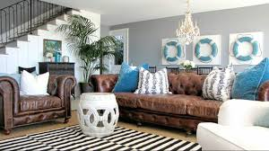 Brown Sectional Living Room Ideas by Charming Beach Condo Interior Design Ideas Interior Captivating