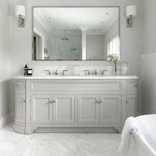 Double Vanity Bathroom Mirror Ideas by Refined Llc Exquisite Bathroom With Freestanding Gray Double Sink