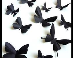 3D Wall Butterflies 10 Black Different Butterfly for your
