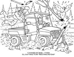 Deer Hunting Coloring Pages Printable