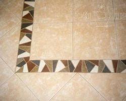 tile a bathroom floor with bordertile borders gallery border