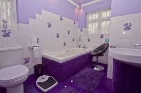 salle de bain mauve exemple décoration salle de bain mauve