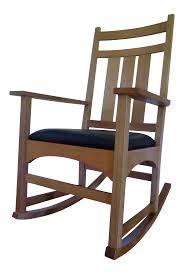 stickley mission oak rocking chair chairish