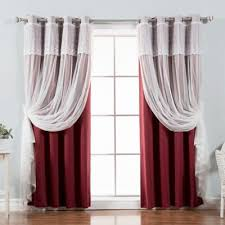 buy burgundy blackout curtains from bed bath beyond