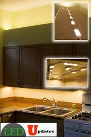 nicor nuc 8 in led nickel cabinet light with hi low