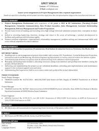 Sample Resume Of Project Manager Download Samples Manufacturing