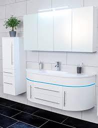 sam 3tlg design badmöbel set 140 cm halbrund hochglanz