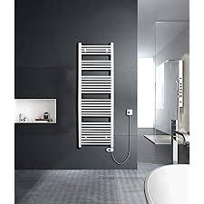 sixbros elektrischer badheizkörper handtuchwärmer mit regulierbarer heizpatrone elektrobadheizkörper thermostat 500w 600 x 1000 mm