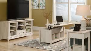 Sauder Edge Water Computer Desk Estate Black by Sauder Edge Water Computer Desk With Hutch In Chalked Chestnut