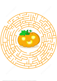 Hard Halloween Brain Teasers by Halloween Pumpkins Labyrinth Puzzle Free Printable Puzzle Games