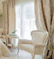 barock gardinen vorhange gold creme quasten wohnzimmer