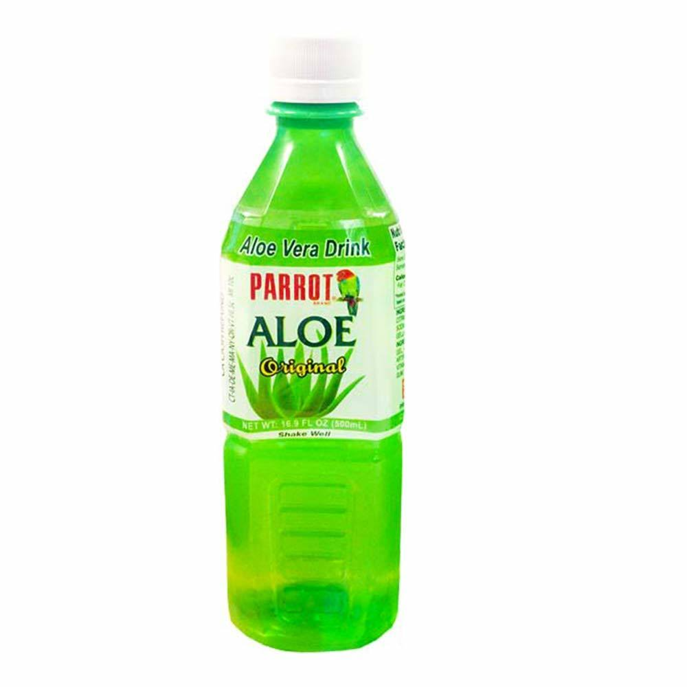 Parrot Aloe Vera Drink, Original - 20 pack, 16.9 fl oz bottles