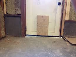 Unlevel Floors In House by How Can I Adjust For An Uneven Exterior Door Threshold Home