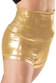 aliexpress com buy plus size silver metallic shorts rave