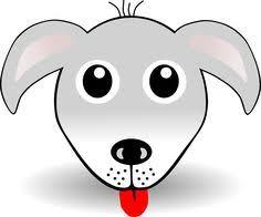 Free Clipart Funny Dog Face Grey Cartoon