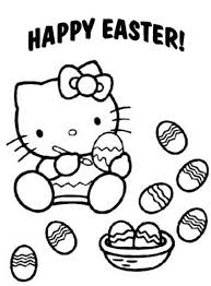 Happy Easter Cute Kitty Eggs Coloring Pages For You To Print