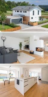 modernes einfamilienhaus mit garage satteldach architektur