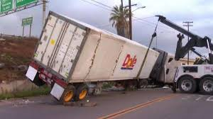 100 Simi Truck Semi Carrying Pineapples Crashes In National City NBC 7 San