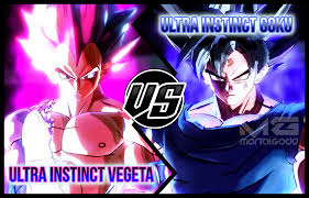 Goku UI Vs Vegeta By MortalGodd