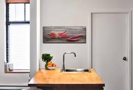 wandbild 80x30cm leinwandbild küche chili peperoni gewürze
