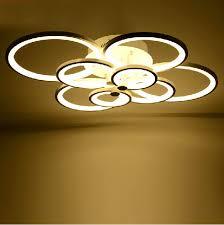 free shipping 8 rings led ceiling lights 110 240v flush mount
