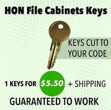 hon file cabinet key 164e ebay