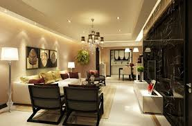 Marble Flooring Ideas For Modern Living Room And Dining Combo