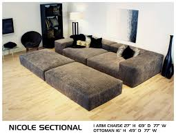 Crate And Barrel Verano Sofa Smoke by Nicole Deep Couch Cozy Movie Pit Couch Conversation Lounge